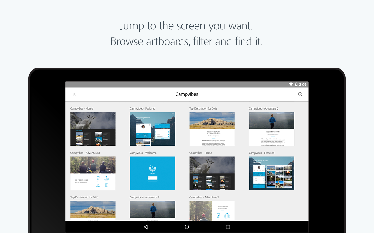 Adobe XD- screenshot
