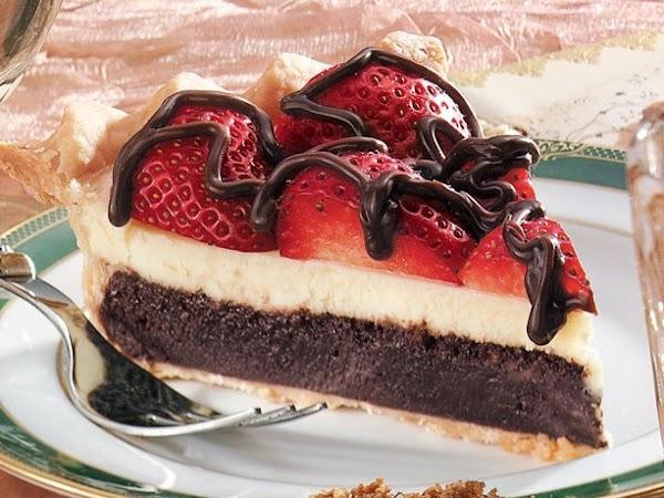 Strawberry Fudge Pie Recipe