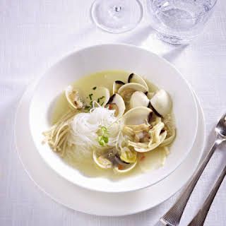 Clam Broth with Rice Noodles.
