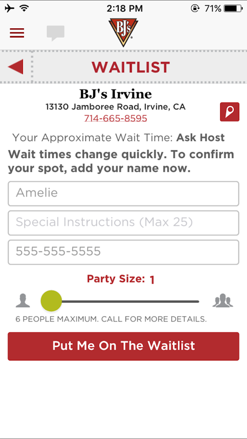 BJ's Mobile App- screenshot