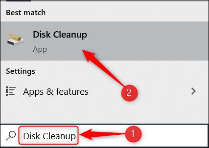 Xóa tệp bằng Disk Cleanup