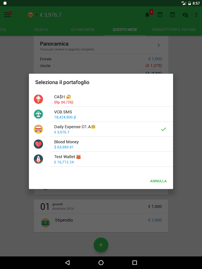 Money Lover - Gestore Spese- screenshot