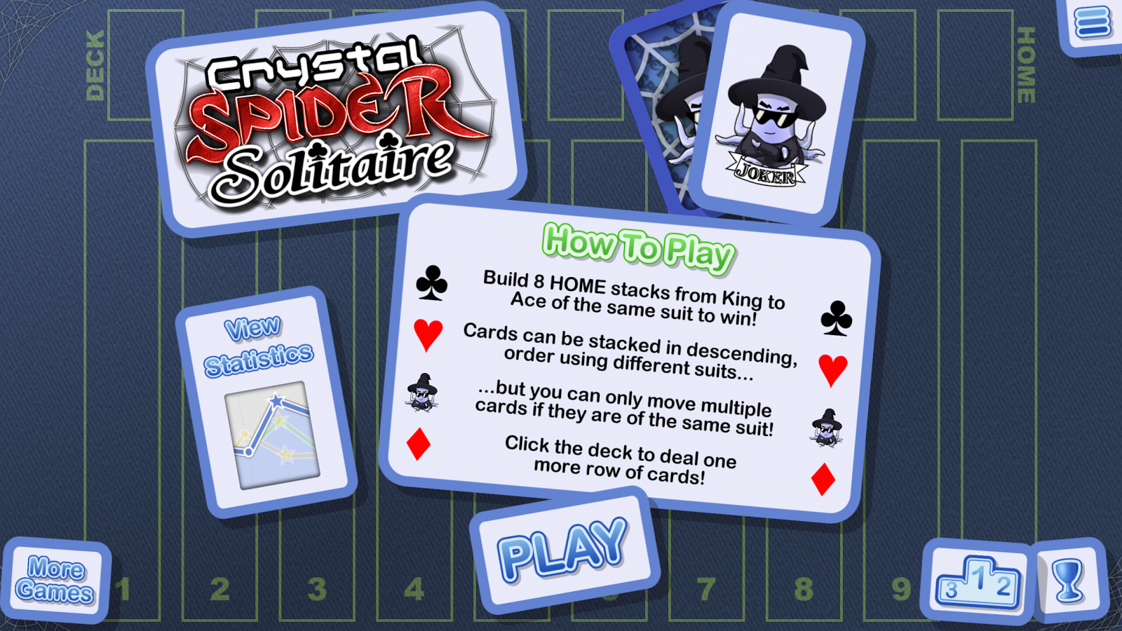 Crystal Spider Solitaire- screenshot