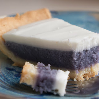 (Hawaiian) Okinawan Sweet Potato Pie with Haupia Topping