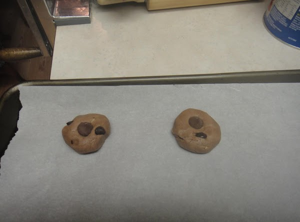 Roll your cookie into a ball and place on the parchment paper.