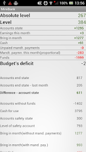 MiniBank - personal budget screenshot 5