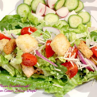 Grilled Chicken Caesar Lettuce Wraps!.