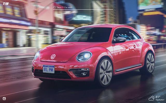 Volkswagen Beetle HD Wallpaper New Tab Theme