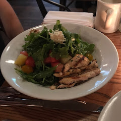 House specials watermelon salad with feta, extra order of grilled chicken