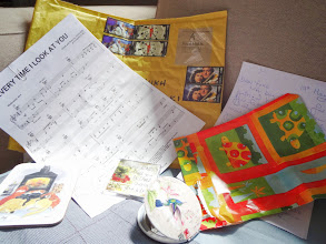 Photo: Gifts and letter from my dearest friend from UK. Although we have never met before, she understands me very well and I feel she is very close to me. Thanks internet, and thanks Il Divo (http://www.ildivo.com/uk/node/12565) for bringing her in my life!  2nd June updated (日本語はこちら) - http://jp.asksiddhi.in/daily_detail.php?id=561