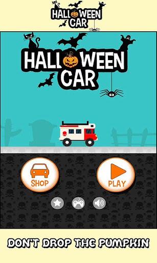 Halloween car racing