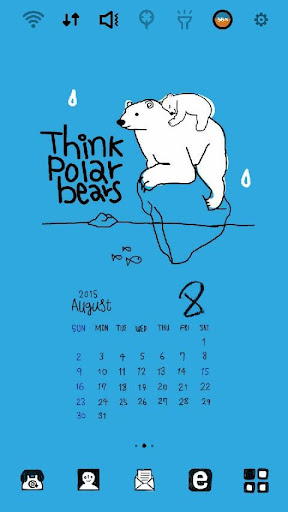 拉拉感性日历八月_北极熊 桌面主题