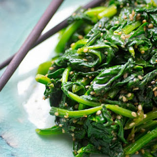 Asian Greens With Sesame Seeds.