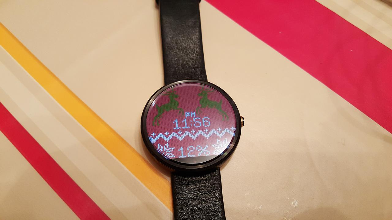 Christmas Sweater Watch Face- screenshot
