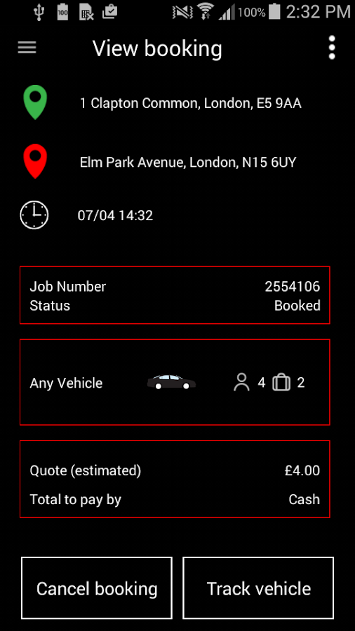Emess Cars  London's Minicab- screenshot