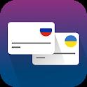 Перевести деньги в Украину с карты на карту icon