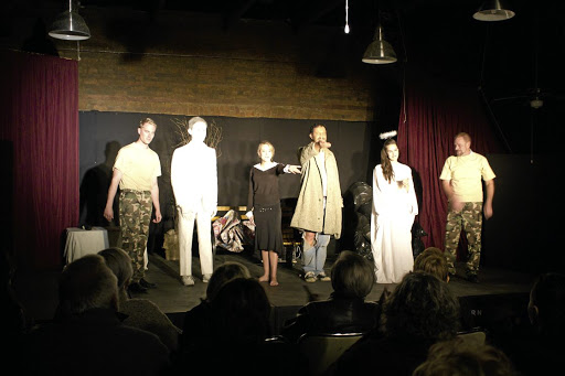 The cast of Road to Recovery: At the Platteland Preview festival. Picture: CRYSTELLE WILSON