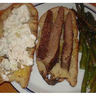 Barbecued Flank Steak.
