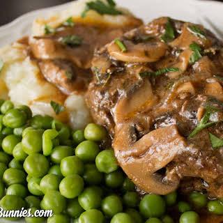 Homemade Salisbury Steak with Mushroom and Onion Gravy.