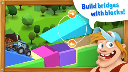 BlockVille Bridge builder Physics puzzle apklade screenshots 1