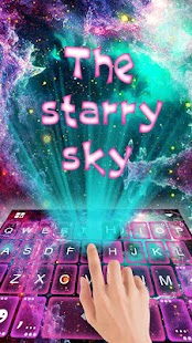 Starry Space Keyboard Theme - náhled