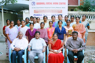 Photo: Our first batch of women trainees(standing) with the Chief Guest and project staff