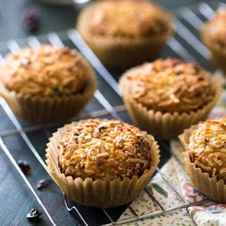 Protein Muffins with Quinoa, Prunes, Dates and Coconut.