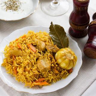 Uzbek Plov Chicken Pilaf.