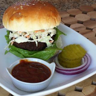 Texas Burgers With BBQ Sauce.