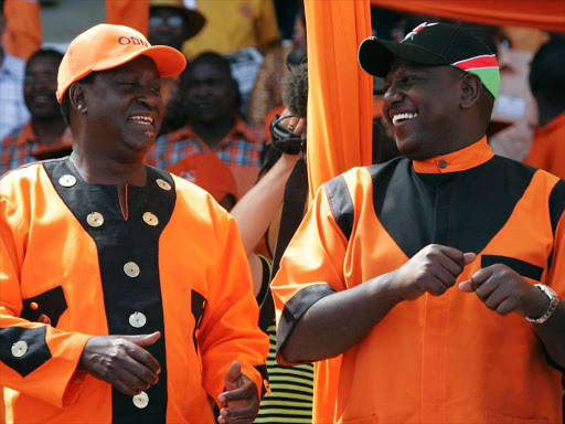 Image result for Raila working with William Ruto