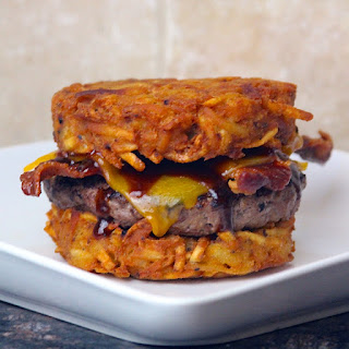Hash Brown Bacon Cheeseburger