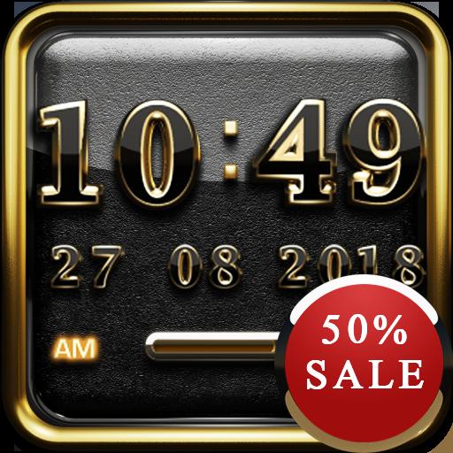 Gold K 1 Digital Clock Widget