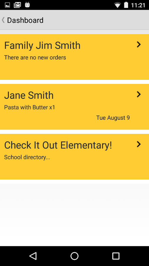 myFoodDays- screenshot