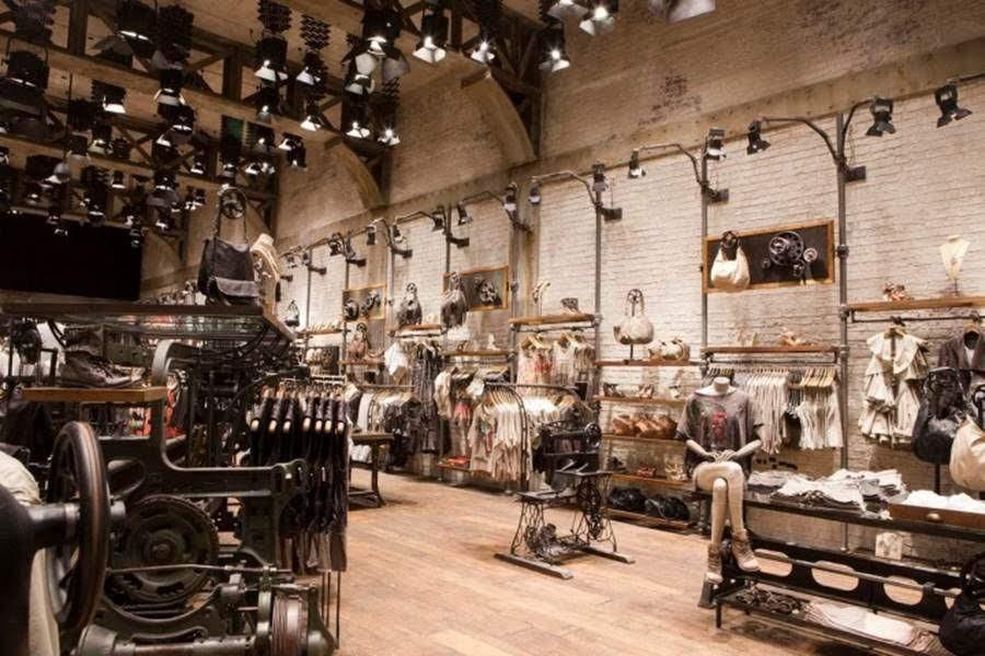 thiết kế shop thời trang phong cách vintage