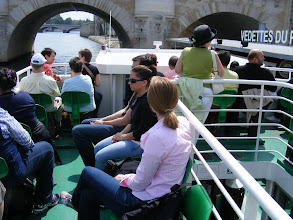 Photo: And here we are on the Vedettes du Pont Neuf for our Seine-side look at the city. We buy our tickets in advance on the Internet, and get a very good discount.