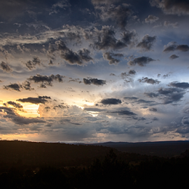 evening clouds by Matthew Kuiper - Landscapes Cloud Formations ( sunset, clouds )