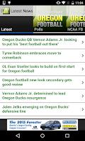 Screenshot of Oregon Duck Sports