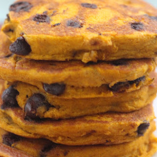 To-Die-For Gluten Free Chocolate Chip Pumpkin Pancake.
