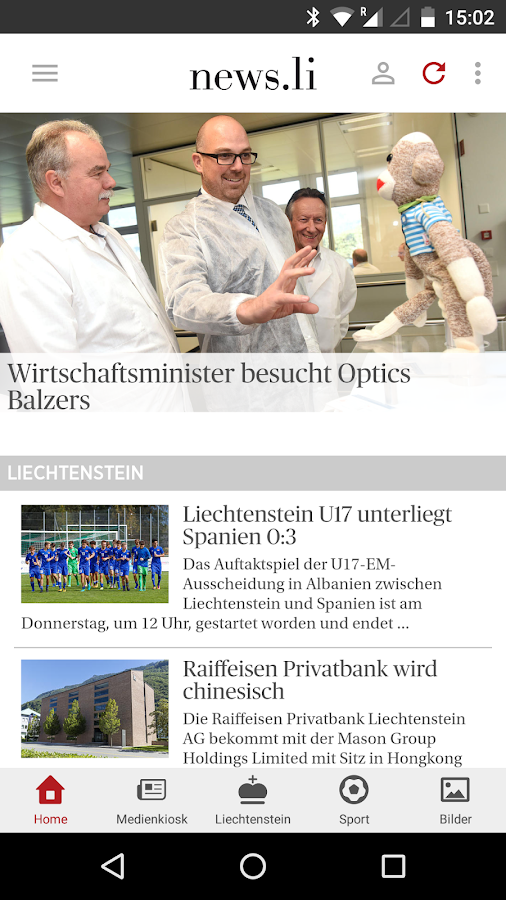 News aus Liechtenstein- screenshot