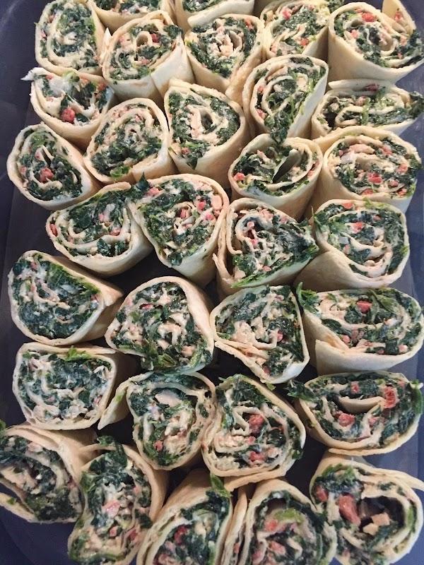 Spinach & Chicken Roll-ups Recipe