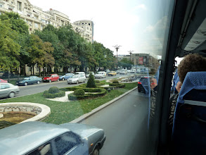 Photo: The main boulevard in Bucharest on our tour of the city.
