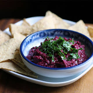 DIY Black Tahini and Beet Hummus.