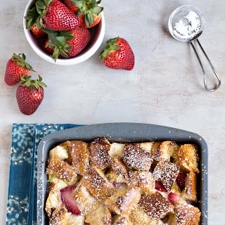 Overnight Strawberry Cream Cheese-Stuffed French Toast Casserole