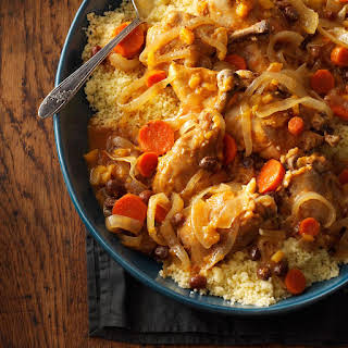 Slow-Cooked Moroccan Chicken.