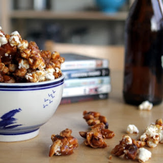 Bacon Caramel Corn with Peanuts and Walnuts