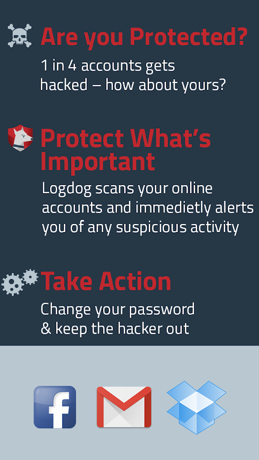 Protection from Hackers LogDog- screenshot