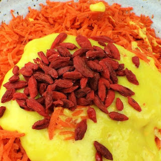 Carrot Salad with Turmeric-Coconut Manna Dressing