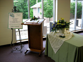 Photo: Welcome! Over 250 guests attended our flower show on June 7, 2008.