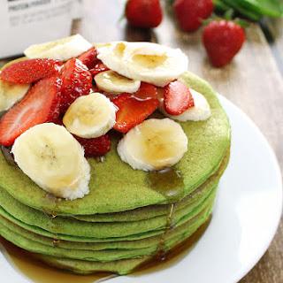 Spinach & Banana Protein Pancakes.