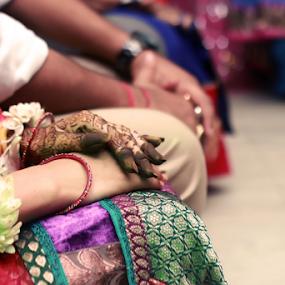 Wedding ceremony by Anurag Bhateja - Wedding Ceremony ( mehndi, hands, hina, hindu wedding, indian wedding, bride )